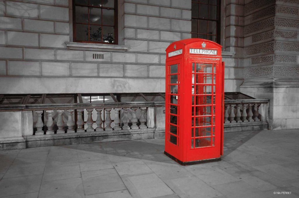 Red telephone box - London
